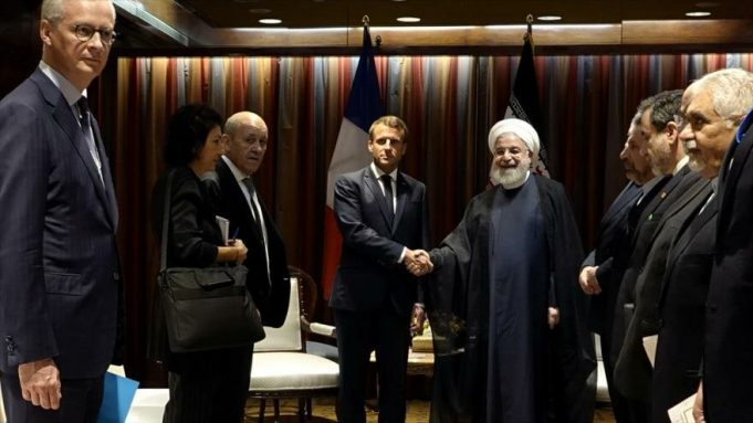 Hasan Rohani, Emmanuel Macron, AGNU, Nueva York