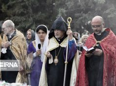 """Ceremonia de conmemoración de la """"Cruz sagrada"""", Teherán"""