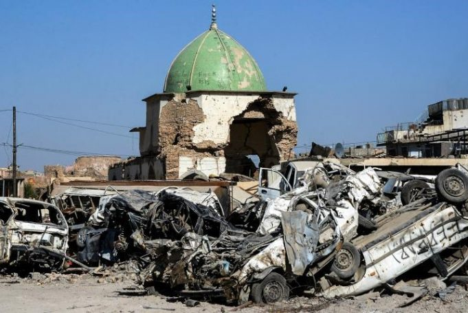 Irak, Mosul, mezquita Al-Nouri, UNESCO