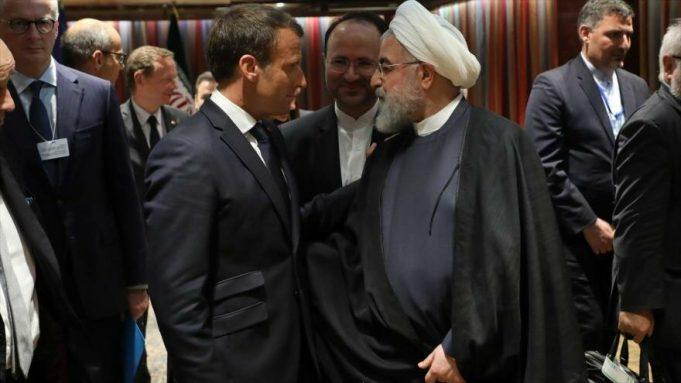 Hasan Rohani, Emmanuel Macron, EE.UU., AGNU