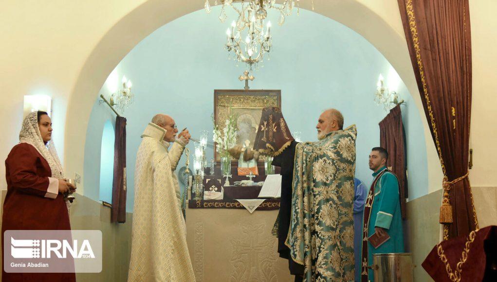 Teherán, Ceremonia de Santa Minas, la Iglesia Minas