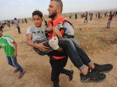 Israel, Gaza, Gran Marcha del Retorno, niño palestino