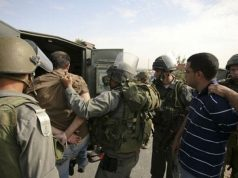 Cisjordania, Ejército israelí