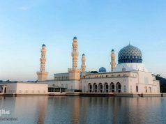 Malasia,Mezquita de la ciudad de Kota Kinabalu