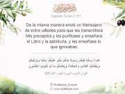 Sagrado Corán, Profeta del Islam (PBUH),