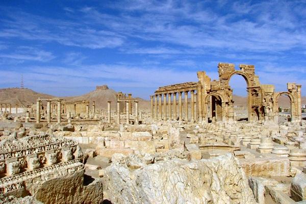 Siria, Rusia, Arco del Triunfo de Palmira, UNESCO