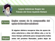 Gran Ayatolá Sistani, Ayuno